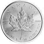 1 oz Silver Maple Leaf (Random Date) -0
