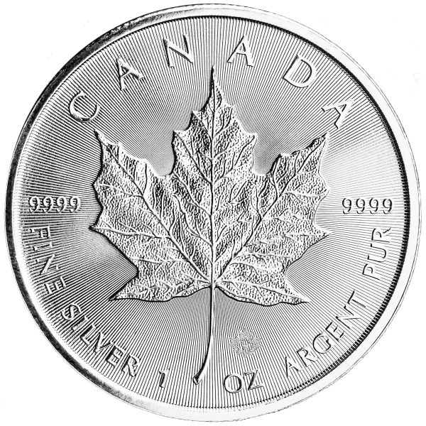 1 oz Silver Maple Leaf (Random Date)