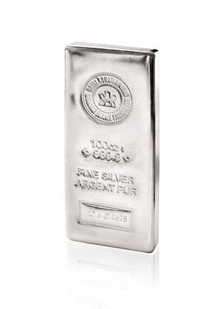 100 oz RCM Silver Bar-363