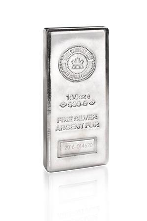 100 oz RCM Silver Bar-362