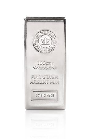 100 oz RCM Silver Bar-364