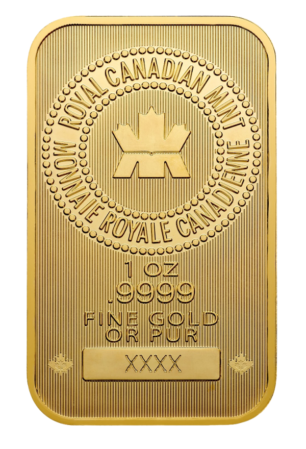 1 oz Gold Bar from the Royal Canadian Mint