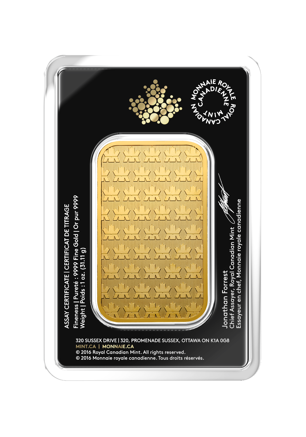 1 oz RCM Gold Bar-344