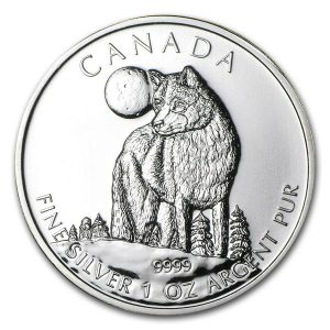 2011 Canadian Silver Wolf 1oz Coin-0