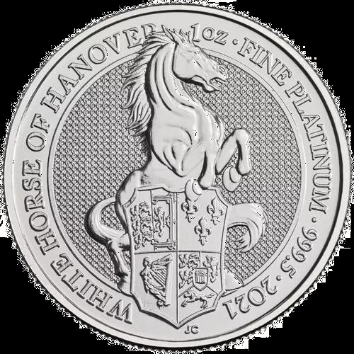 1 oz Platinum Queens Beast Coin - The White Horse
