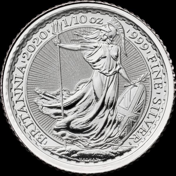 Britannia 2020 Silver 1/10oz Bullion
