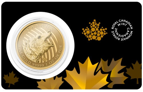 1 oz Gold Grizzly Coin