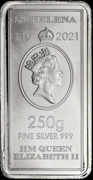 Saint Helena Legal Tender 250 Gram Coin Bar