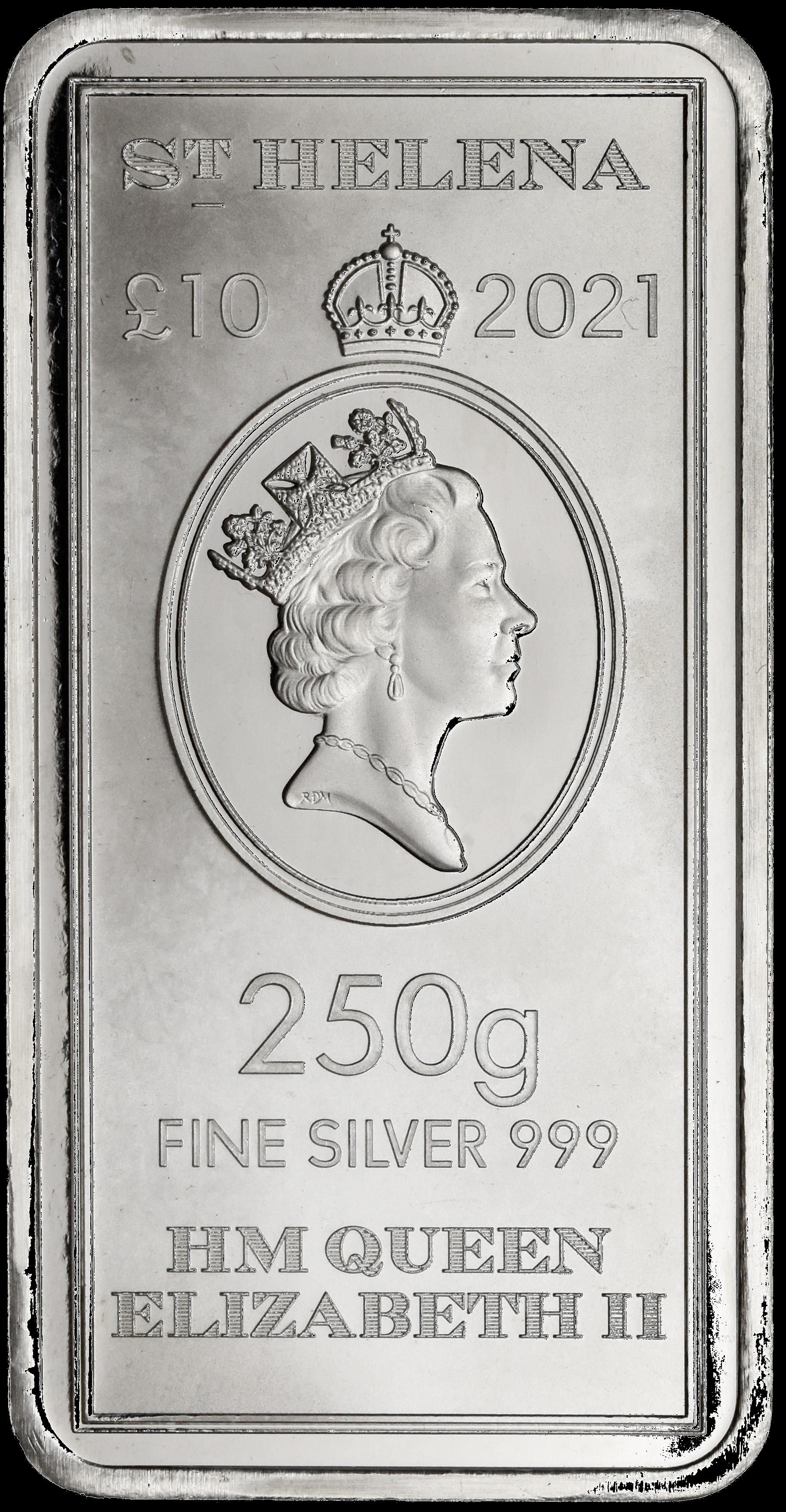 Saint Helena Legal Tender 250 Gram Coin Bar (Mid June Delivery)