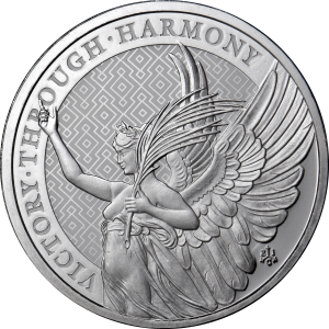 2021 1 oz Silver St Helena Victory Coin