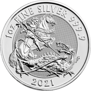 2021 1 oz Royal Mint Valiant Silver