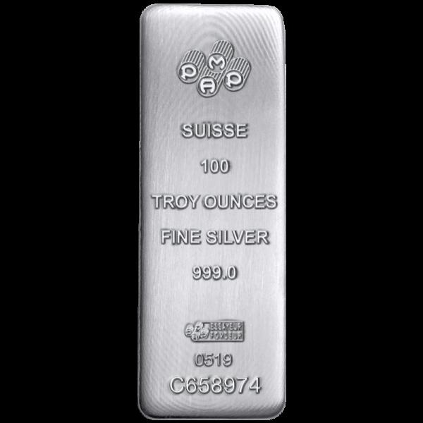 100 oz Silver Bar PAMP