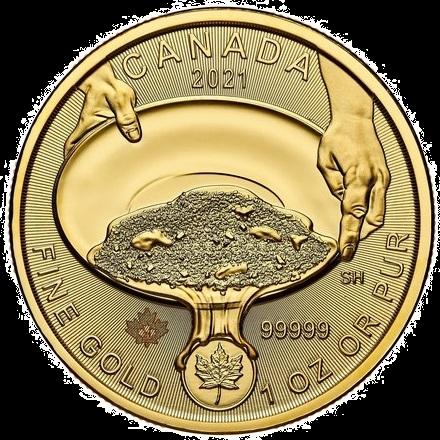 2021 1 oz .99999 Klondike Gold Rush