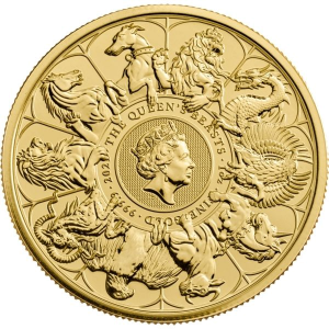 1 oz 2021 Royal Mint Queen's Beasts 'Completer' Gold Coin