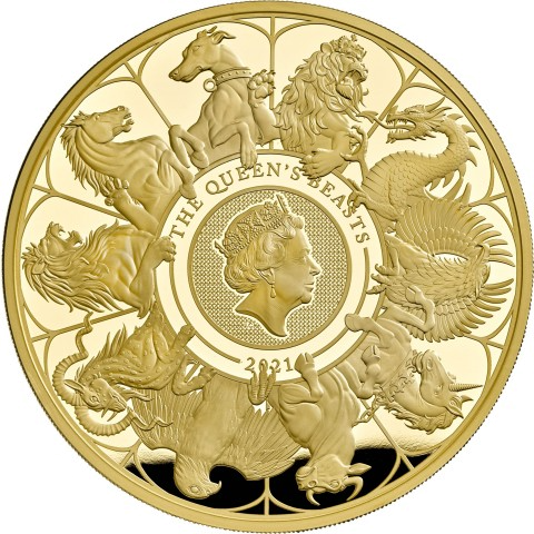 1 oz 2021 Royal Mint Queen's Beasts Completer Gold Coin