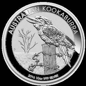 10 Oz Silver Kookaburra