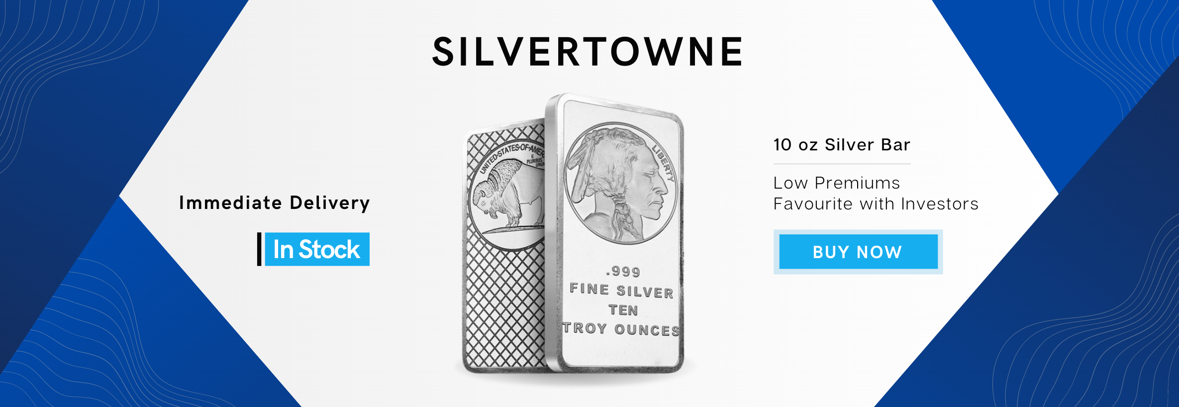Silver Bar 10 oz Silvertowne