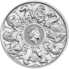 2021 2 oz British Silver Queen's Beast Collection Coin