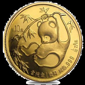 gold 1/10 oz Chinese panda