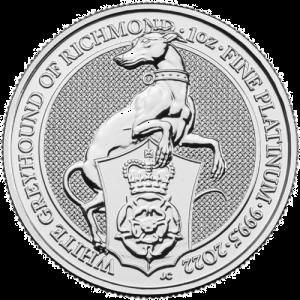 1 oz Platinum Coin Greyhound